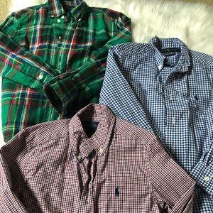 Boy's Ralph Lauren long sleeve button up shirts